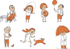 Kids activity set Royalty Free Stock Image