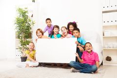 Kids advertising Stock Image