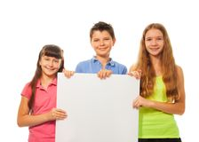 Kids with advertising Royalty Free Stock Images