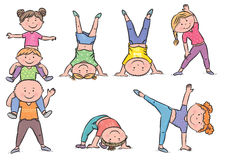 Kids aerobics Royalty Free Stock Photography