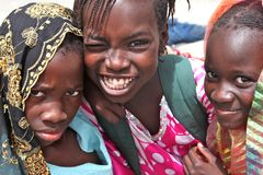 Kids in Africa royalty free stock photography