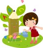 Kids and alphabet Royalty Free Stock Photos