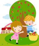 Kids and alphabet. Illustration of kids and alphabet Royalty Free Stock Images
