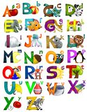 Kids Alphabet. This is a useful alphabet for kids learning to read Stock Photo