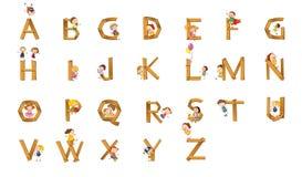 Kids alphabet Stock Image