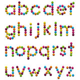 Kids Alphabet. Kids font of colorful candy letters. Clipping path included for easy selection Stock Images