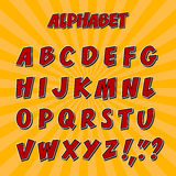 Kids alphabet or 3d font with letters. Stock Photo