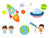 Kids And Space Stock Images