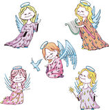 Kids angels Stock Images
