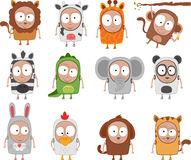 Kids animal costumes Royalty Free Stock Photography