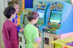 Kids at the Arcade Stock Image