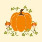 Kids Around Playing with Pumpkins Stock Photo