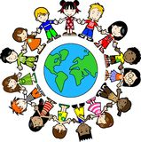 Kids around the world Stock Image