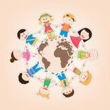 Kids Around the World. Vector illustration of the kids around the world Royalty Free Stock Images