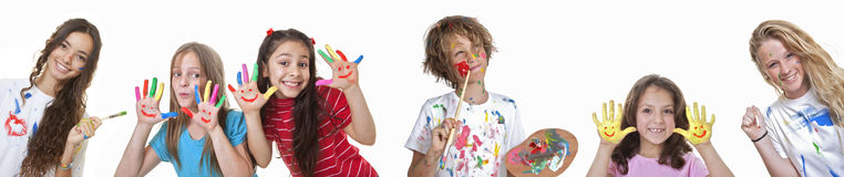 Kids art classes Royalty Free Stock Photos