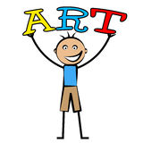 Kids Art Represents Arts Artistic And Graphics Royalty Free Stock Images