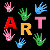 Kids Art Shows Craft Draw And Toddlers Stock Photos