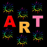 Kids Art Shows Draw Artistic And Crafts Stock Images