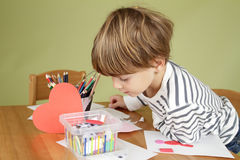 Kids Arts and Crafts Activity, Learning and Education Royalty Free Stock Photo