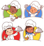 Kids as national chefs Royalty Free Stock Image
