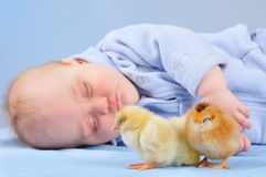 Kids are asleep Stock Photo