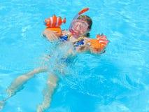 Kids At Swimming Pool - Sharm El-Sheikh Royalty Free Stock Photo