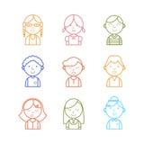 Kids avatar icon Royalty Free Stock Photography