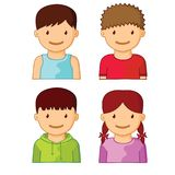 Kids Avatars part one Stock Images