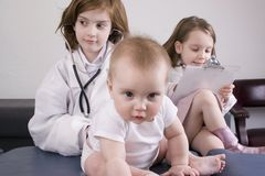 Kids with baby royalty free stock photos