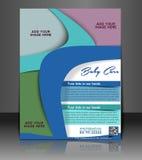 Kids & Baby Care Flyer stock illustration