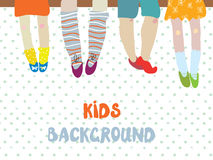 Kids background  for kindergarten banner or card - funny  illust Royalty Free Stock Photography
