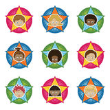 Kids badges Stock Photography