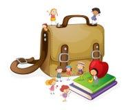 Kids and bag Stock Photography