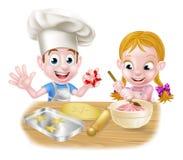Kids Baking Royalty Free Stock Photos