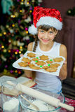 Kids baking christmas cookies. Before the celebration of Christmas. Family royalty free stock photo