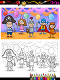 Kids ball for coloring book Royalty Free Stock Photo