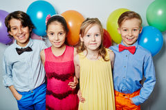 Kids with balloons Royalty Free Stock Photo