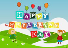 Kids and Balloons Stock Photo