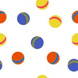 Kids balls colorful pattern Stock Images