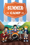 Kids in a Band Summer Camp Flyer Royalty Free Stock Image