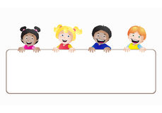 Kids banner Royalty Free Stock Images