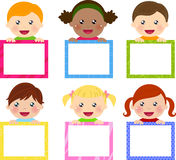Kids and banner Royalty Free Stock Photo