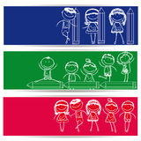 Kids banner Stock Photo