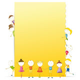 Kids banner Royalty Free Stock Photo