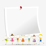 Kids banner Stock Image