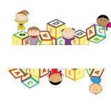 Kids banner Stock Photo