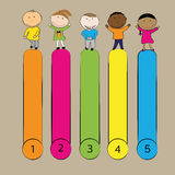 Kids banner Stock Images