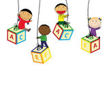 Kids banner Royalty Free Stock Photography