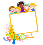 Kids and banner Royalty Free Stock Photography