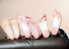 Kids bare feet Royalty Free Stock Image